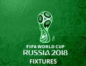 FIFA 2018 Fixture Schedule Time Table Venue