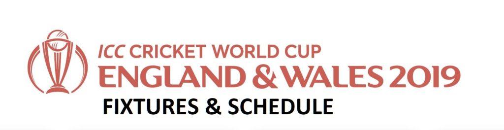 icc cricket world cup 2019 fixture, schedule