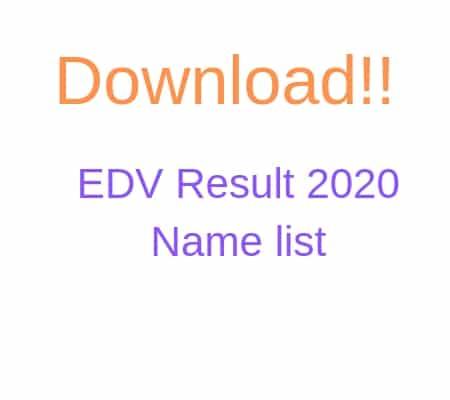 edv result name list
