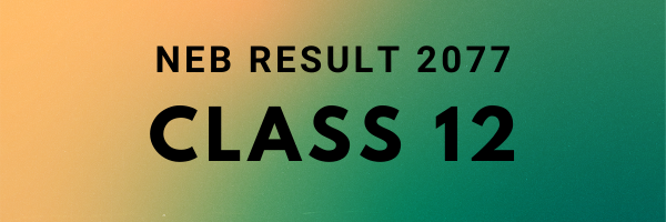 2077 class 12 result published